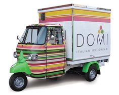 Ice-Cream Piaggio Van - Domi                                                                                                                                                     More