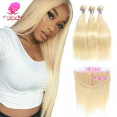 Honey Blonde Bundles With Closure 3 4 613 Body Wave Brazilian 100% Human Hair Iwish Remy Hair Blonde Weave Hair Extensions & Wigs