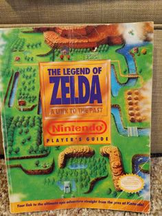 The Legend of Zelda A Link to the Past player's guide No rips, but wear on bottom corner and map (see pics) and front cover Entertainment System, Legend Of Zelda, Video Game, Nintendo, The Past, Entertaining, Adventure, Games, Link