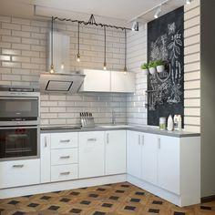 Фотография: в стиле , Кухня и столовая, Скандинавский, Проект недели, барная стойка на кухне, Сургут, ДА-Дизайн, холодильник на балконе – фото на InMyRoom.ru