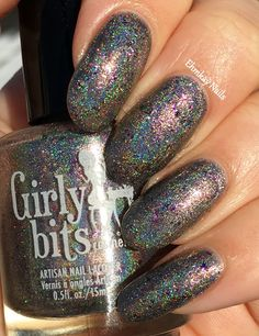ehmkay nails: Girly Bits January CotM: In One Year and Out the Other and Steely Resolution