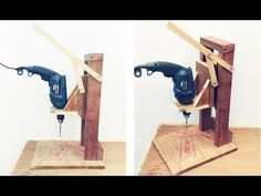 Make A Homemade Drill Press Stand || DIY Homemade Drill Press - YouTube