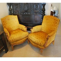 French Armchairs, Louis xv style , circa 1900. Very Austin Powers! Could be recovered in a more Conservative colour if you prefer. They are fabulous.