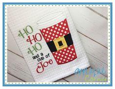 Ho Ho Ho and a Cup of Joe Applique Design
