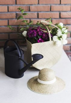 Garden things and Ikea Nipprig bag and hat via Coffee Table Diary blog