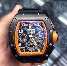 Yet another easy reader! (Not) Richard Mille Fine Watches, Cool Watches, Rolex Watches, Unique Watches, Richard Mille, Men's Accessories, Tourbillon Watch, Easy Reader, Hand Watch