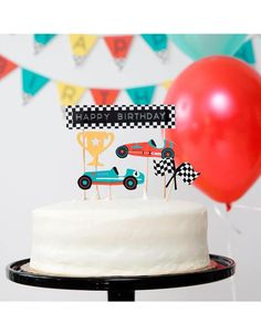 Race Car Birthday, Race Car Party, Themed Birthday Cakes, Race Cars, 2nd Birthday, Happy Birthday, Birthday Ideas, Birthday Themes For Boys, Themed Cakes