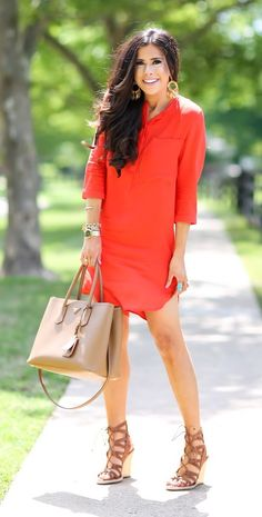 Statement Shoes red midi dress @roressclothes closet ideas #women fashion outfit #clothing style apparel