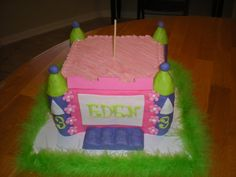 Bounce House Girlie Cake and Cupcakes