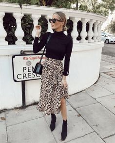 outfits Say & to boring clothes 🚫 Say & to the Lulu leopard wr. Say & to boring clothes 🚫 Say & to the Lulu leopard wrap skirt and jazz up your everyday outfits easily 💁🏽‍♀️😍 Tap to shop! Mode Outfits, Trendy Outfits, Office Outfits, Office Attire, Night Outfits, Chic Outfits, Casual Office, Office Chic, Classy Outfits