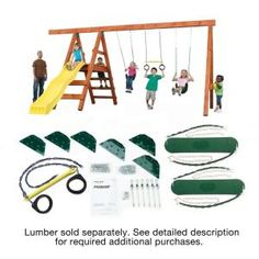 Swing-N-Slide Playsets Do-It-Yourself Pioneer Custom Play Set-NE 4433 - The Home Depot