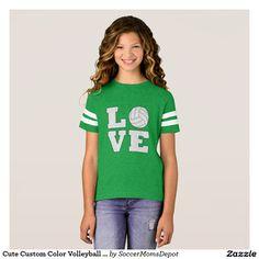 Cute I Love/Heart Soccer Girls Jersey Style Shirt # サッカー Volleyball Outfits, Volleyball Shirts, Baseball Sunglasses, Softball Jerseys, Gifts Love, Girl Gifts, Girls Soccer, Tennis Players, Jersey Shirt