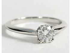 Sweetheart Solitaire Engagement Ring in Platinum #BlueNile