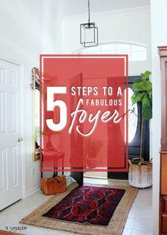 Hi Sugarplum | 5 Steps to a Fab Foyer