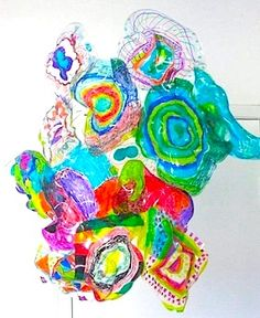 Chihuly Inspired Kids Art Project  http://belladia.typepad.com/crafty_crow/2010/06/chihuly-inspired-kids-art-project.html/