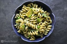 Pesto Pasta with Spinach and Avocado - not so skinny but very healthy if using whole grain pasta
