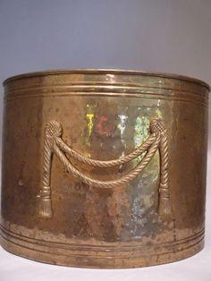 Vintage Hammered Brass Magazine Rack Tassels by TroveMagpie
