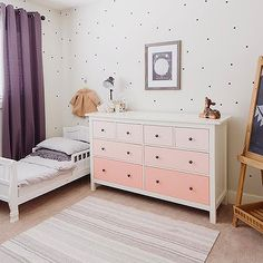 Oh My Dear Blog - boy's rooms - eclectic nursery, purple curtains, purple…