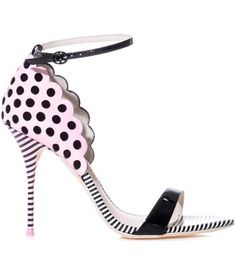 Yinka polka-dot and stripe sandals