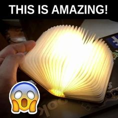 Booklovers Rechargeable Book Lamp - Showcase your love of books with a creative and interesting light fixture! Easy Craft Projects, Easy Crafts, Diy And Crafts, Projects To Try, Gadgets And Gizmos, Cool Gadgets, Book Lamp, Cool Inventions, Useful Life Hacks