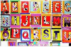 A personal favorite from my Etsy shop https://www.etsy.com/listing/234509964/graphic-colorful-abc-display-cards-set