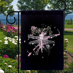 tattoo art dragonfly splat small garden flag - Small Garden Flags