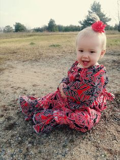 Girls red ruffle romper ready to ship size by Bootleglaceboutique, $35.00