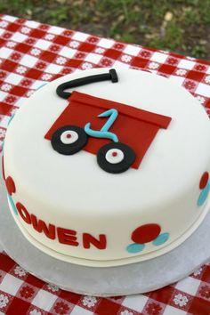 red wagon cake   Baby+O+red+wagon+cake.jpg