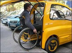 Handicap-friendly electric car by Hungarian company.  #rehab