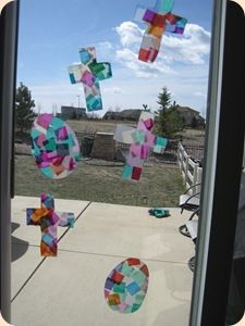 Stained Glass Cross & Egg Easter Craft | Confessions of a Homeschooler