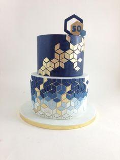 Geometric cake by tomima