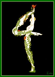 I came across these beautiful art deco illustrations by famed artist Erte and absolutely had to share with all of you. Art Nouveau, Costume Fleur, Moda Art Deco, Erte Art, Romain De Tirtoff, Art Deco Artists, Art Deco Stil, Inspiration Art, Art Deco Period