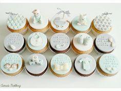 babyboy cupcakes  - Cake by Astrids Bakkerij