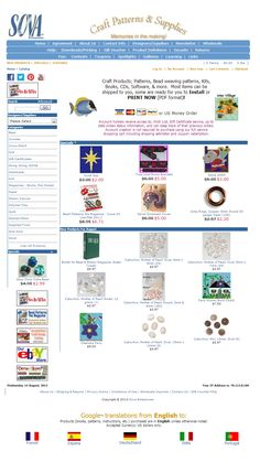 Sova-Enterprises.com, a great site for beading patterns and craft supplies. Individual Patterns for sale from various designers in one location. Many FREE craft tutorials and beading patterns are available!