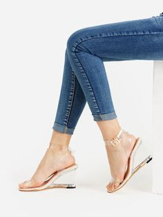To find out about the Metal Buckle Strappy Wedge Sandals at SHEIN, part of our latest Wedges ready to shop online today! Strappy Wedges, Wedge Sandals, Wedge Shoes, Women's Wedges, Gladiator Sandals, Shoes Sandals, Online Shopping Shoes, Shoes Online, Sandals Online