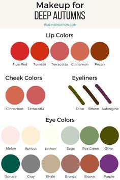 Deep Autumn Makeup Colors