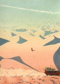 OUTDOORS yan nascimbene landscape illustration