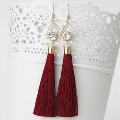 2016 Fashion Vintage Water Drop Rhinestone Lady's Dress Long Tassel Earrings For Women Brincos Pendientes For Party ED153
