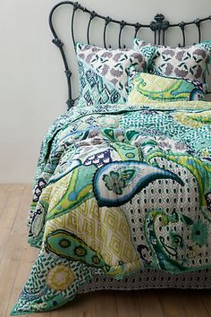 Daydreamer Quilt from Anthropologie. Love the colors and pattern, even if the price is kinda ridiculous.