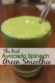 This avocado spinach smoothie is amazing! I love all the added nutrients and good fat the avocado adds. Even my husband who can't stand avocados liked it and the kiddos did too. Need to make this!