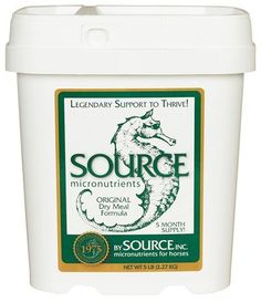 Source Original Powder 5lb by Source. $28.68. 5 POUNDS. Maintenance formula for optimum condition. Helps develop superior coat, weight, hoof condition, disposition, breeding and performance for horses of all ages, breeds and activities.. Save 32% Off!
