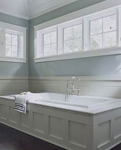 With shoulder-high windows in the bathroom there isn't a need for window coverings and you can let the light pour in. Robyn Porter, REALTOR www.robynporter.com