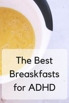 Best Breakfasts for ADHD I've found the best breakfasts for adhd! 3 of my favorite recipes plus ideas for quick breakfasts.I've found the best breakfasts for adhd! 3 of my favorite recipes plus ideas for quick breakfasts. Adhd Odd, Adhd And Autism, High Protein Breakfast, Make Ahead Breakfast, Breakfast Ideas, Breakfast Recipes, Adhd Help, Adhd Brain, Adhd Diet