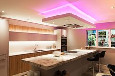 Party lighting for your kitchen... BLOG: http://www.jshouseofdesign.co.uk/Blog/Post/1615/How-to-refurbish-your-kitchen #KitchenRefurbishment #KitchenRefurb #KitchenRenovation #NewKitchen #KitchenLighting