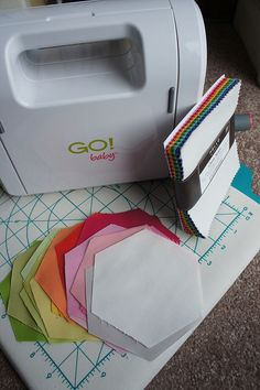 using the go cutter to quickly create hexagons by Cut To Pieces, via Flickr