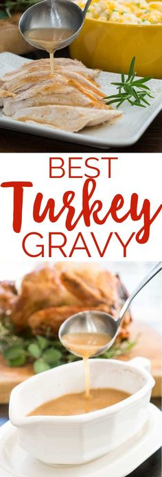 This is the perfect turkey gravy recipe, my go to for Thanksgiving dinner! #thanksgiving # recipe