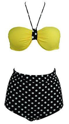Cocoship Yellow Vintage Polka Dot High Waisted Bikini Set L(FBA) COCOSHIP http://www.amazon.com/dp/B00KU248JM/ref=cm_sw_r_pi_dp_afD4wb1ZCVYED