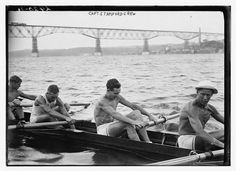 Walkway over the hudson and Stanford Univ. crew team ~1915