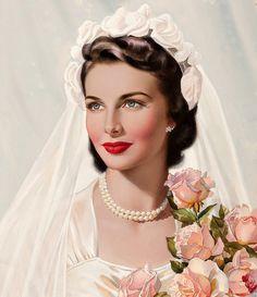 belles images pin-up Pin Up Vintage, Vintage Bridal, Vintage Ladies, Vintage Woman, Vintage Weddings, Vintage Pictures, Vintage Images, Vintage Outfits, Vintage Fashion