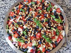 CDJetteDC's LCHF: Sommersalat med mozzarella, jordbær og blåbær